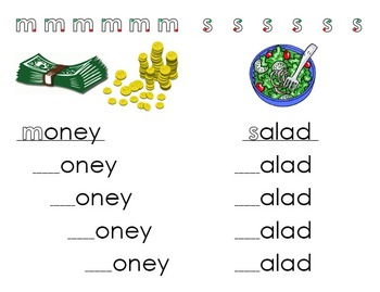 Phonemic Awareness Worksheets - Beginning Sounds