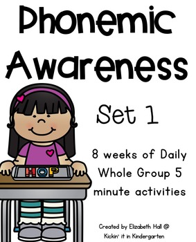Phonemic Awareness for Little Learners (Set 1)