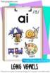 Phonic Posters- 50 Vowel Phonemes (Short & Long Vowels, Vo