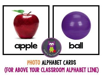 """Phonics 2"" Alphabet Cards (for above your classroom Alpha"
