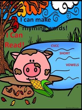 Phonics Worksheets: Rhyming CVCC Words (Pigs in Mud Worksheets)