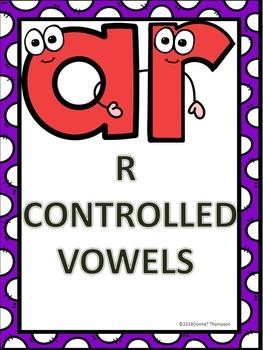 Phonics Worksheets: R-Controlled Vowels AR (No Prep Worksheets)