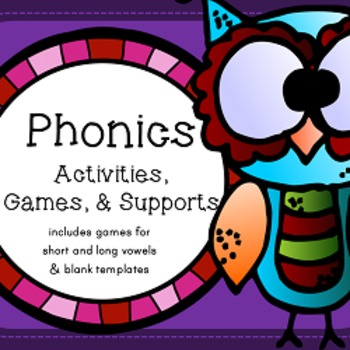 Phonics Activities, Games, and Supports - Short Vowels, Lo