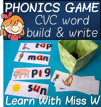 Phonics Game: CVC word build and write