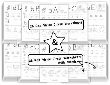 Phonics Activity Sheets II - Rap.Write.Circle - by FUNetic Farm