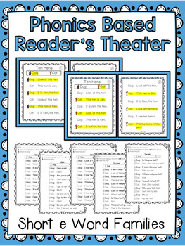 Phonics Based Reader's Theater {Short e Word Families}