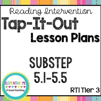 Phonics Based Reading Intervention Tap-It-Out Substep (Boo