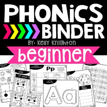Phonics Binder- Beginner {RTI, Intervention, Guided Readin