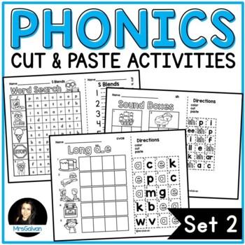 Phonics Blends Cut and Paste Activities NO PREP Printables