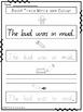 Phonics Bundle Letter CVC Word Sentence Work Packs 1, 2 an
