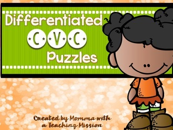 Phonics CVC Puzzles Differentiated