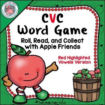 Phonics Game Short Vowel CVC Words Apple Friends Highlight