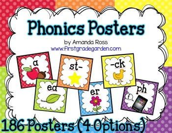 Phonics Posters {186 Posters - 4 Options}