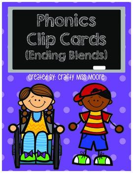 Phonics Clip Cards- Ending Blends