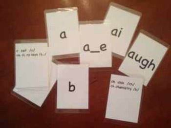 O-G Phonics Drill Cards (full deck, vertical) with quality