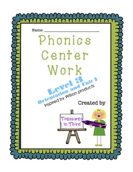 Phonics Center Work Level 3 Units 1-2 BUNDLE