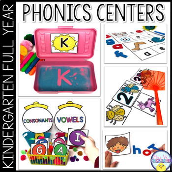 Phonics  & ELA Centers for the Year    ~GROWING BUNDLE~