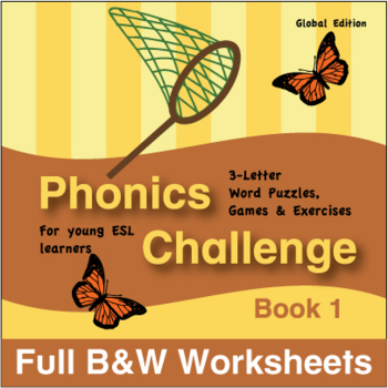 Phonics Challenge, Book 1 - Full BW Textbook