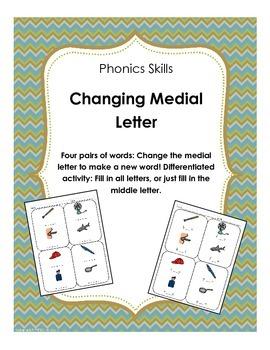 Phonics: Change Medial Letter