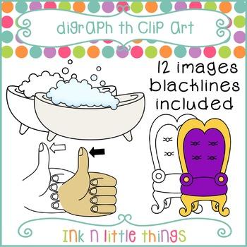 Phonics Clip Art: Consonant Digraph th clipart