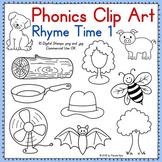 Phonics Clip Art:  Rhyme Time 1