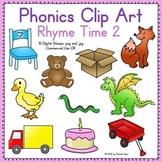 Phonics Clip Art: Rhyme Time 2 COLOR