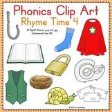 Phonics Clip Art:  Rhyme Time 4 COLOR