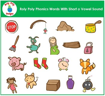 Short O Vowel Clip Art by Roly Poly Designs