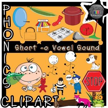 Phonics Clipart - Short O Vowel Sound