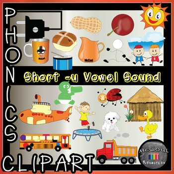 Phonics Clipart - Short U Vowel Sound