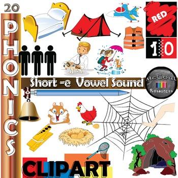 Phonics Clipart - Short e Vowel Sound