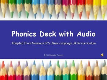 Phonics Deck with Audio- Neuhaus