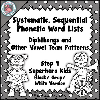Phonics Word Lists with Diphthongs and Other Vowel Team Pa