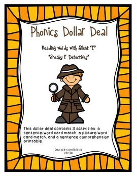 "Phonics Dollar Deal #10: Sneaky ""E"" Detectives"
