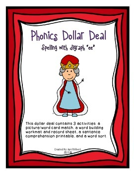 """Phonics Dollar Deal #12: Spelling with """"ee"""" Digraph"""