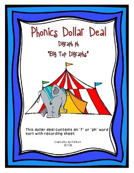 Phonics Dollar Deal #15: Big Top Digraphs