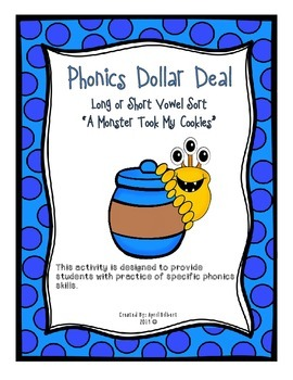 Phonics Dollar Deal 1:Long and Short Vowel Sort