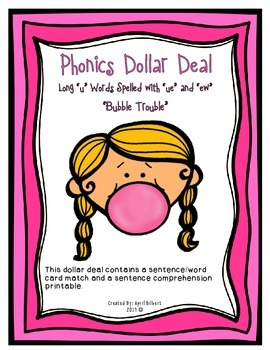 """Phonics Dollar Deal #29: Bubble Trouble with Long """"u"""""""