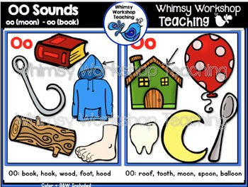 Phonics: Double OO Sounds Bundle - Whimsy Workshop Teaching