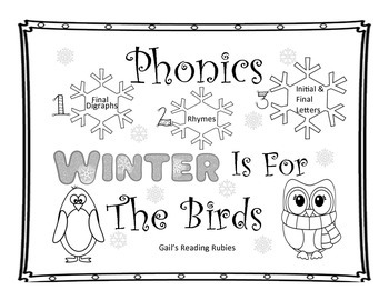 Phonics-Ending Digraphs, Rhymes, Initial & Final Letter Sounds