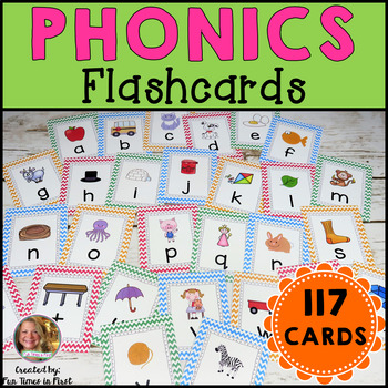 Phonics Flash Cards~ Chevron Theme