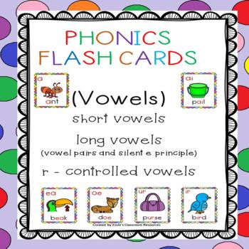 Phonics Flash Cards (Vowels)