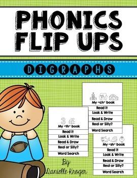 Phonics Flip Books: Digraphs