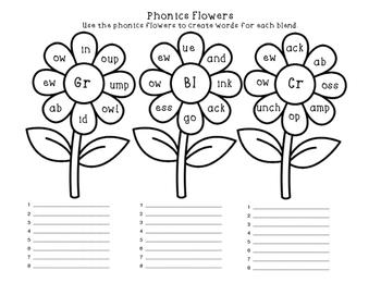 Phonics Flowers