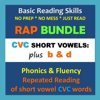 Phonics & Fluency Practice RAP BUNDLE: Repeated Reading of