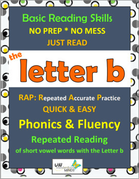 Phonics & Fluency Practice RAP The Letter b: Repeated Read