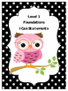 Phonics - Foundational Skills I CAN Statements-  LEVEL I