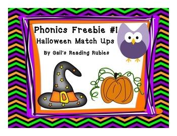 Freebie Phonics Thanksgiving Rhymes