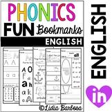 Phonics Fun Bookmarks Activities- English