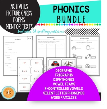 Phonics Fun Bundle - Phonics Dance hunks and chunks inspired